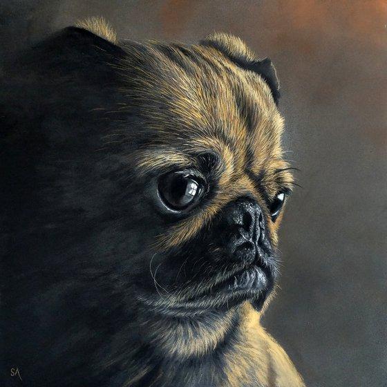 Pug Portrait ll (Original Painting)