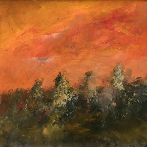 Late Shadows - original, mounted painting