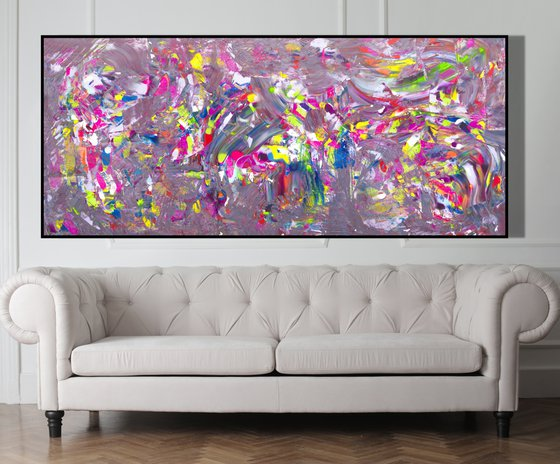 All colors in a jazz composition, 200x90 cm