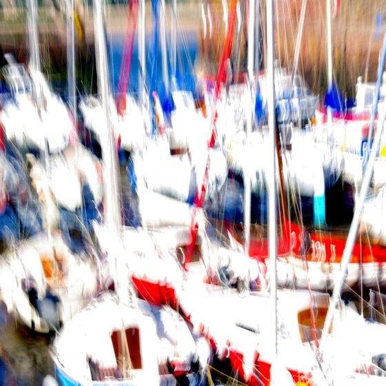 Fife Boats, impressionist nautical landscape