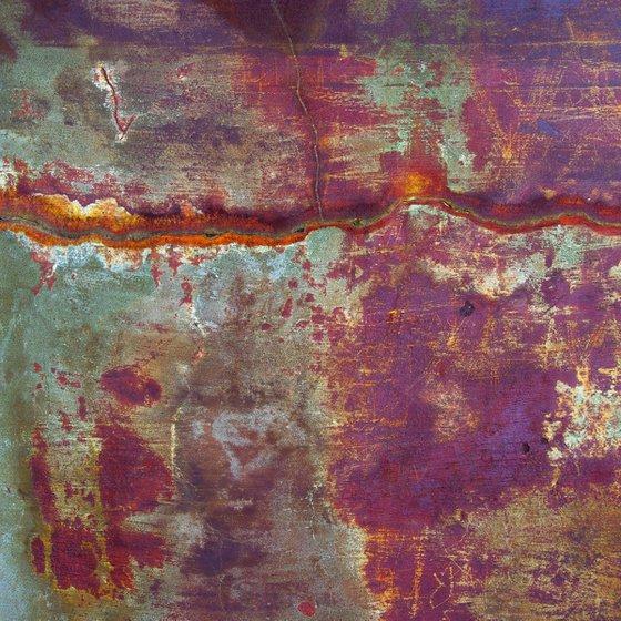Red Desert, abstract impressionist landscape