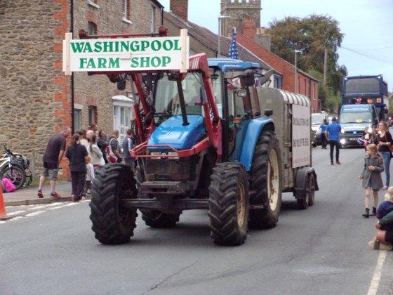 Bridport Carnival procession, Dorset