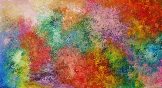 Abstract,green,yellow,blue,brown, christmas sale was 595 USD now 445 USD.