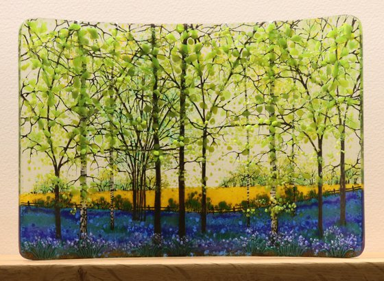 Glass Bluebell Rapefield Small Curve (Made to Order)