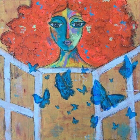 Afraid no more. Butterflies fly away