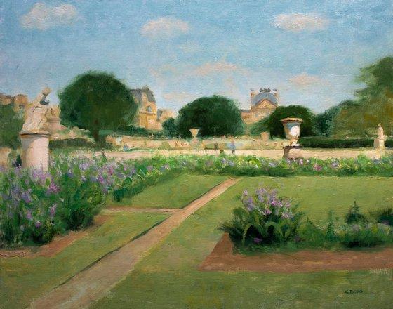 Tuileries Garden Paris (Jardin des Tuileries) impressionist oil painting