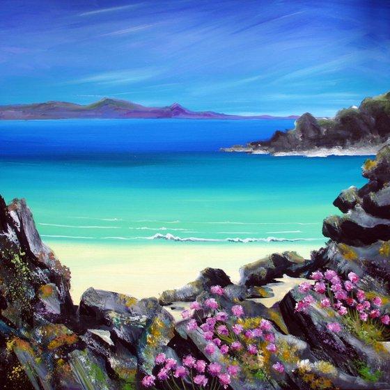 Scottish Beach with Sea Thift
