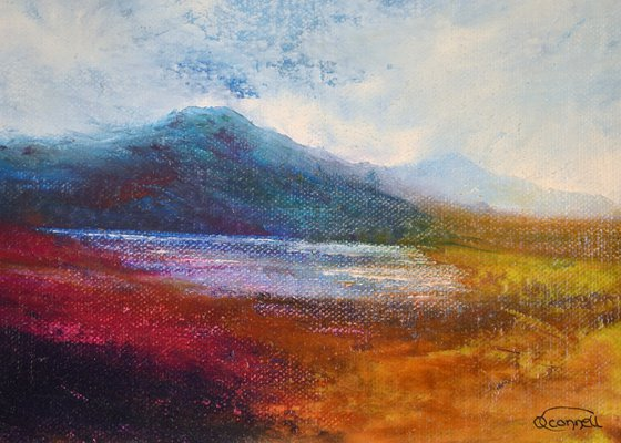 Morvern Memories, impressionist Scottish mountain landscape