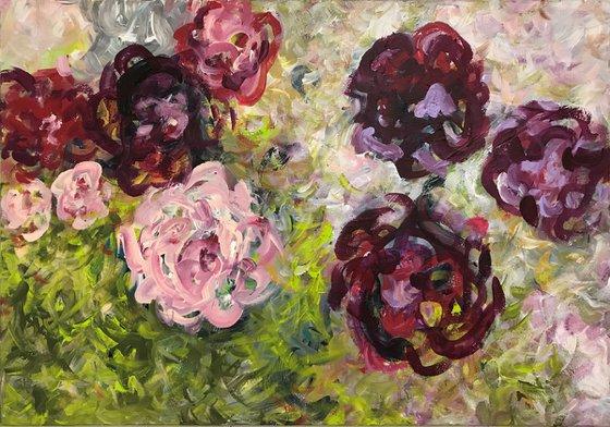 Flowers (violet roses)