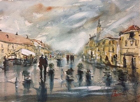 Samobor cityscape, Croatia
