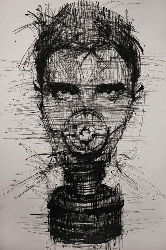 Self-portrait (70x100 cm)