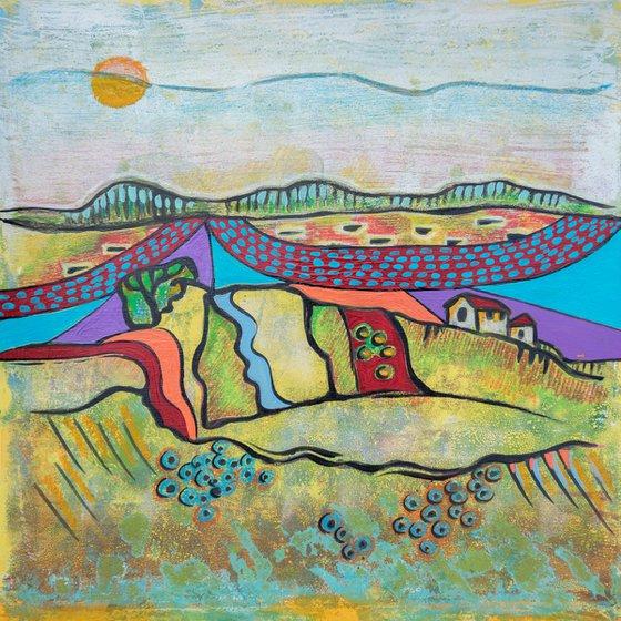 Seasonal Landscape on paper 6
