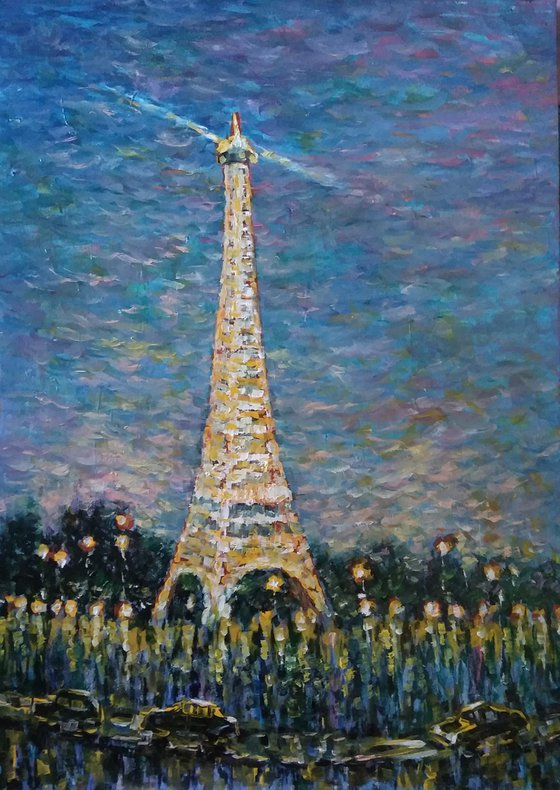 Lights of Paris at night