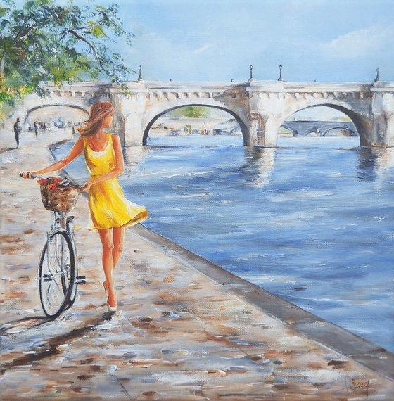 The new bridge, in Paris