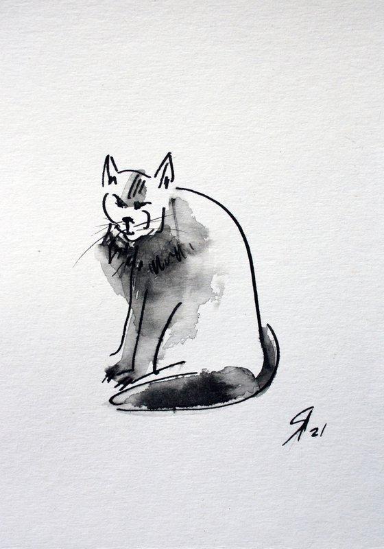 Cat IV... /  ORIGINAL PAINTING