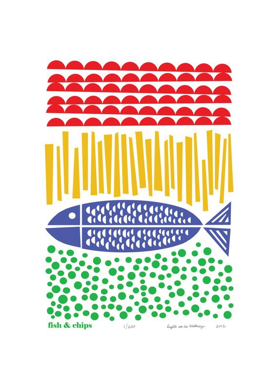 Fish & Chips - Unframed - FREE Worldwide Delivery