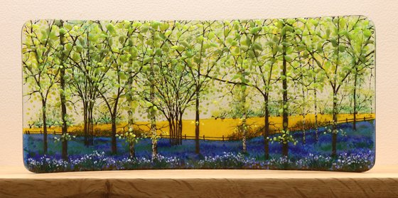 Glass Bluebell Rapefield Half Curve (Made to Order)