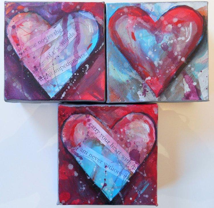 Art Acrylic Heart Painting Real
