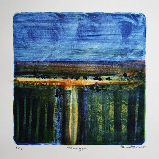 Late Summer - Ink Monotype on Paper Unframed