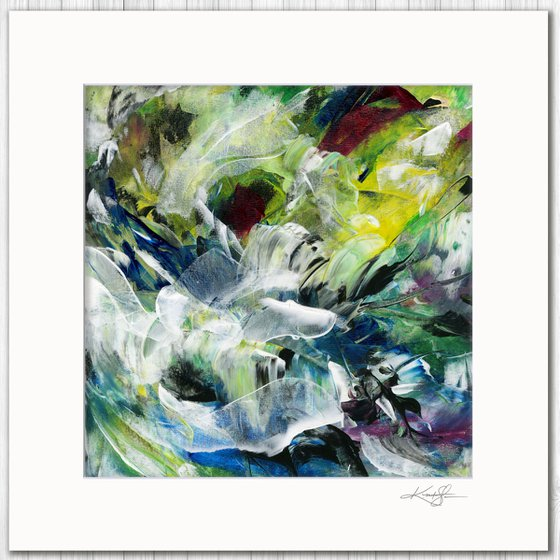 Poetic Escape 1 - Abstract Floral Painting by Kathy Morton Stanion
