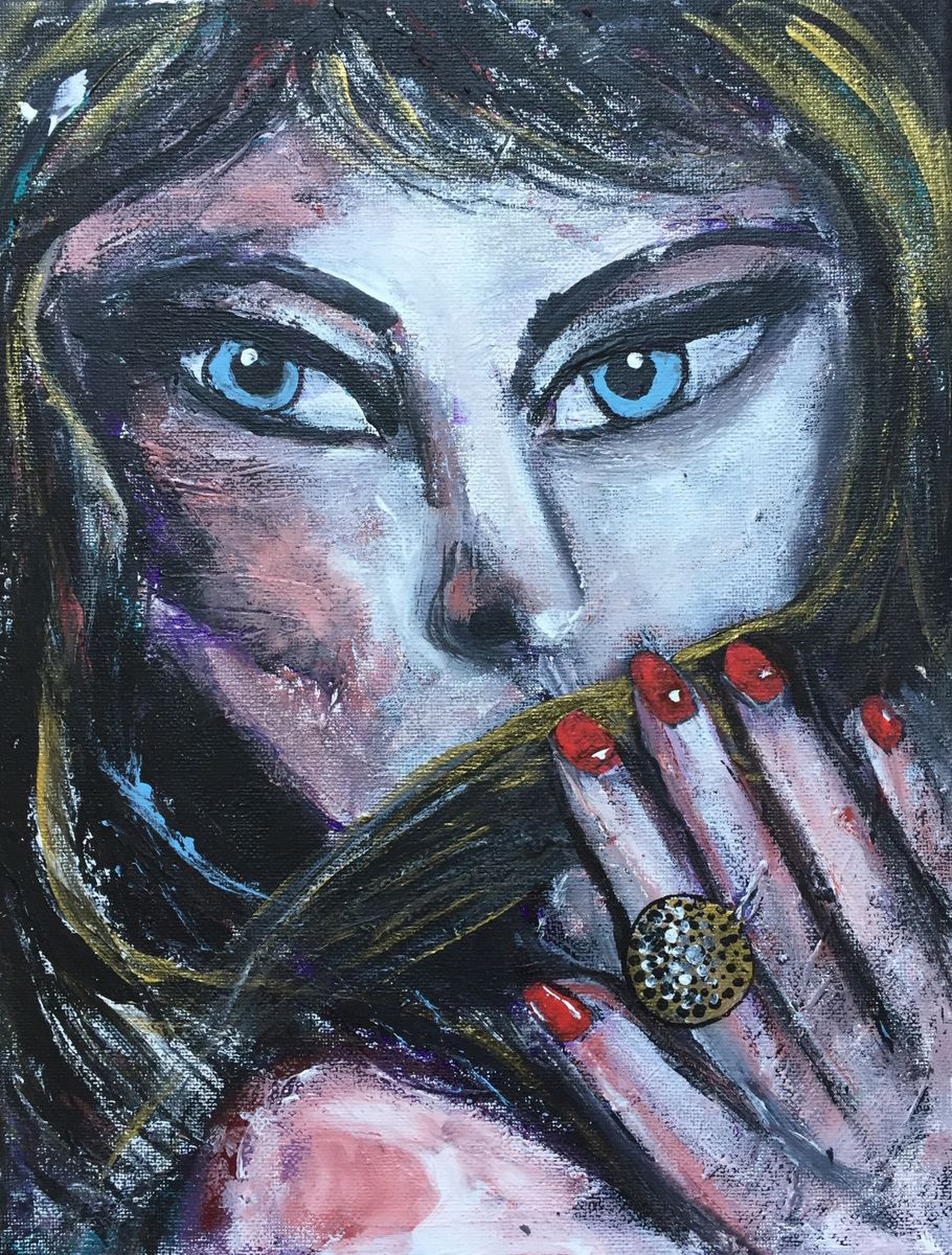 Her Ring Face Portrait Woman Face Beautiful Pain Artfinder