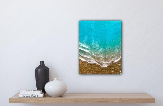 Seascape Teal Waves #48 Ocean Waves Painting