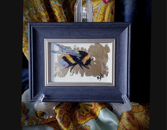 Bumblebee wings (2) on canvas