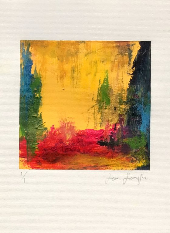Colour Fuse 1 (Yellow) -small abstract painting