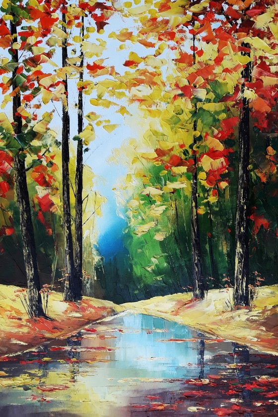 Autumn(60x40cm, oil painting, ready to hang)