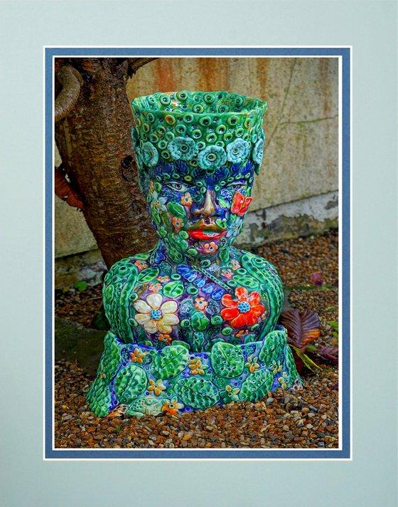 Ladies Head Vase sculpture