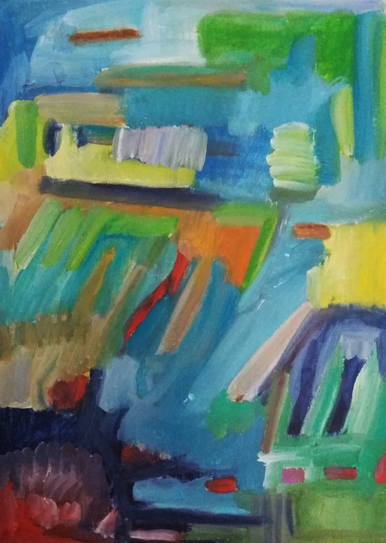 #5/42 | Abstract Landscape | (8.27 x 11.69 inches)