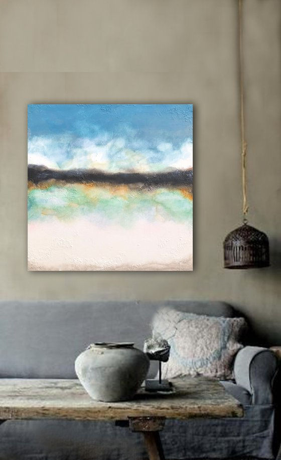 days of ease (90 x 90 cm) Dee Brown Artworks