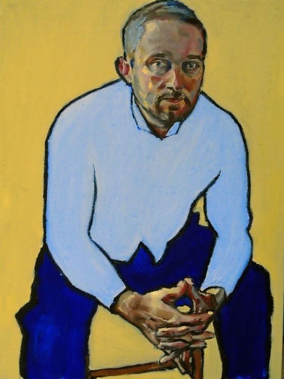 Self Portrait in Blue #2