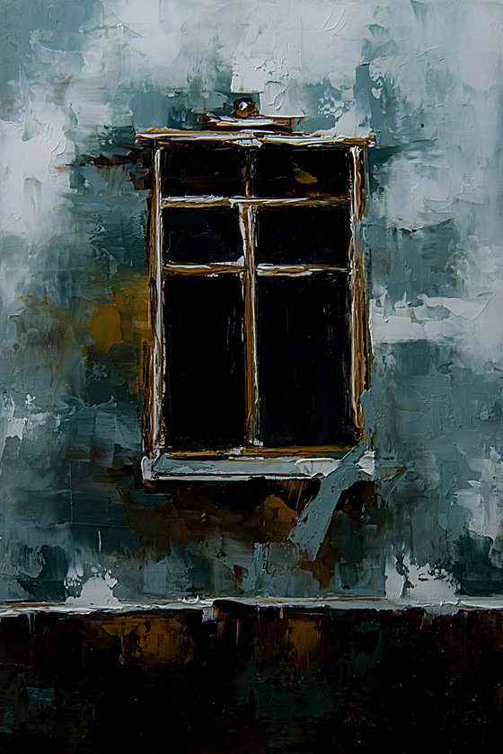 Old window. Gift for housewarming