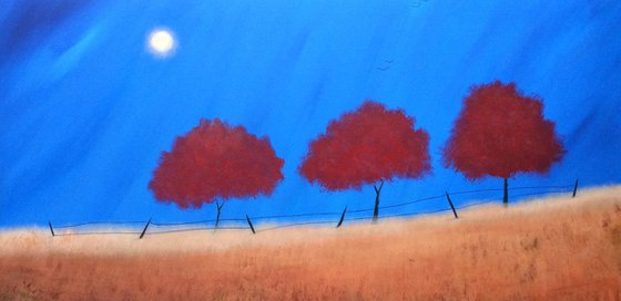 """""""Shining Over The Reds""""152x76x2"""