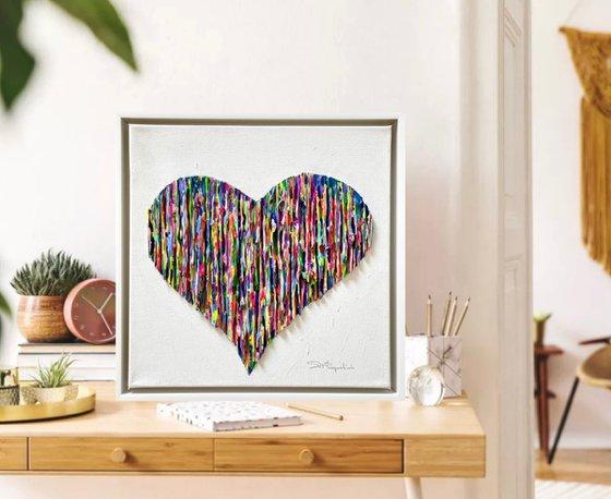 Bright Love - Colorful _ white Frame