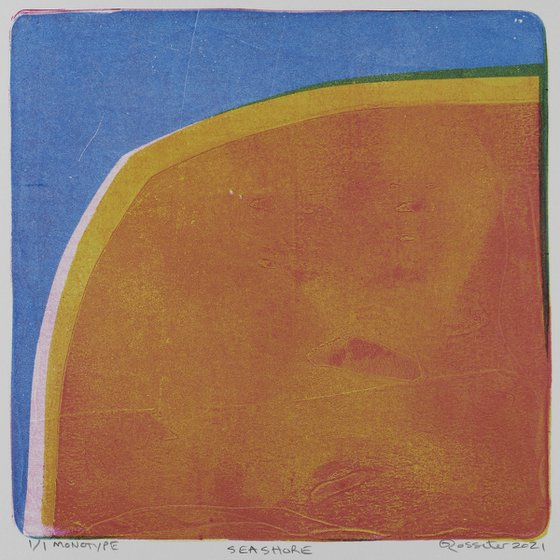 Seashore - Unmounted Signed Monotype