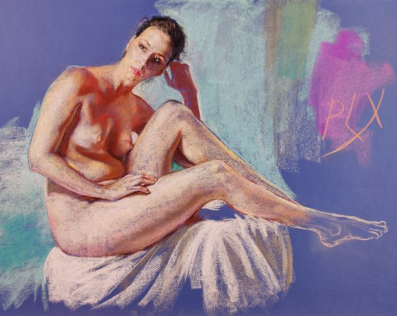 Simply Beauty - nude figurative drawing limited edition fine art prints