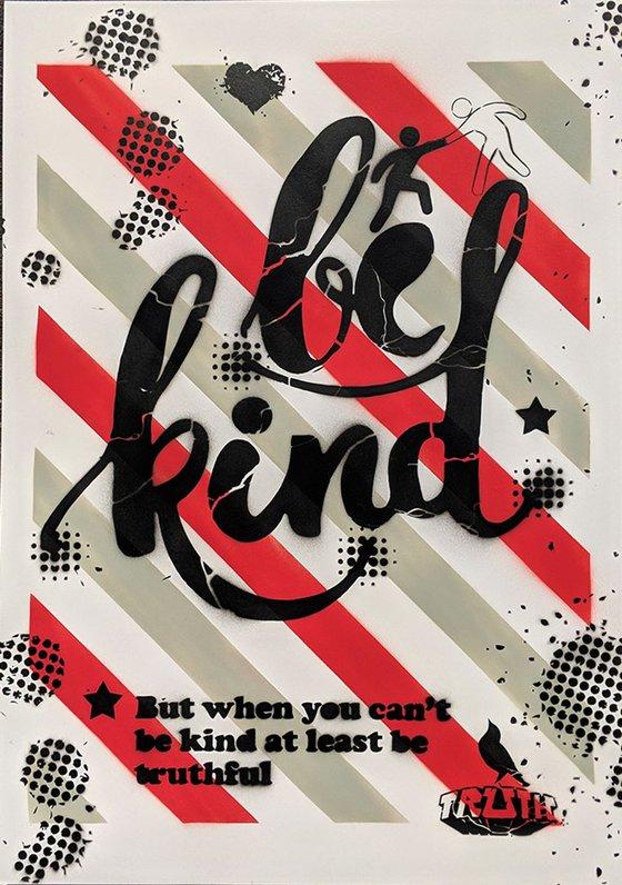 Be Kind - Demotivational Poster no.23 (grey/red detail)