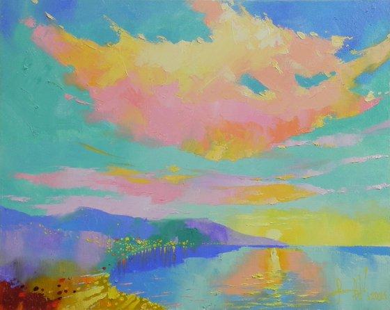 """Sunny Bay"" Original art Landscape painting"