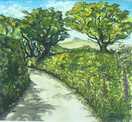 Spring Lane - Glimpse of Haytor