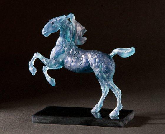 Running Horse - Blue Roan.