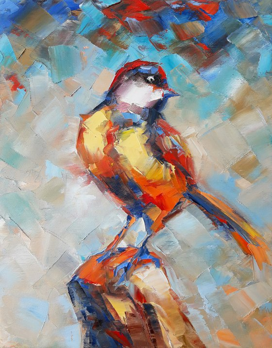 Bird (24x30cm, oil painting, ready to hang)