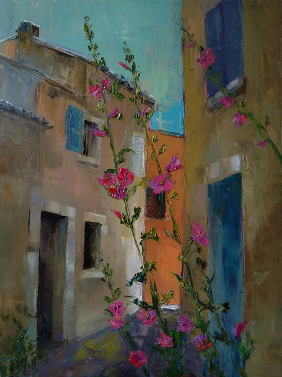 Alley (58x78cm, oil painting, impressionistic, ready to hang)