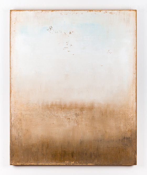 Beige abstract painting SK431