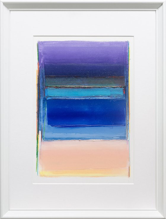 Modern Abstract Oil Painting, BREATHE-A#07, 30x40cm, Framed and Ready to Hang