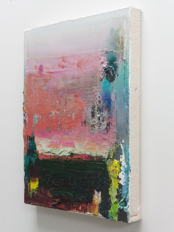 NO PP 62, Abstract Oil Painting on Canvas, Ready to Hang