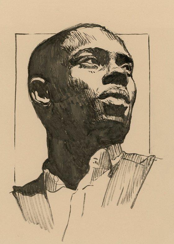Black man portrait