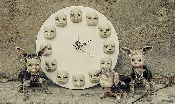 Ceramic | Sculpture | Clock