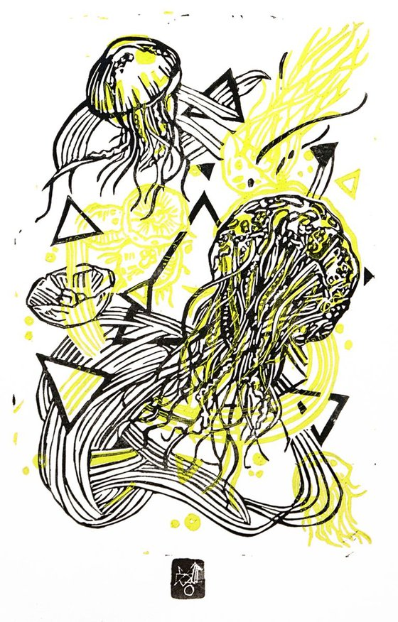 JellyFLUO- yellow fluo/ black